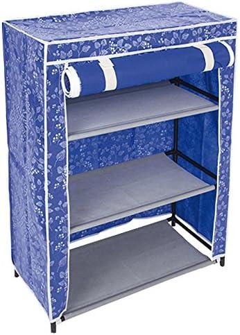 BAKAJI Zapatero Salvaspazio a 3 estantes de Acero y Tela TNT Impermeable para casa y Camping 61 x 30 x 80 cm: Amazon.es: Hogar