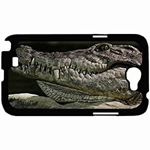 New Style Customized Back Cover Case For Samsung Galaxy Note 2 Hardshell Case, Back Cover Design Crocodile Personalized Unique Case For Samsung Note 2