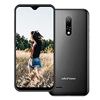 Ulefone Note 8 (2020) 3G Unlocked Cell Phone, Android 10 Quad-core 2GB+16GB Expansion 128GB, 5.5 Inch Waterdrop Screen, 5MP+2MP+2MP Camera, Dual SIM 2700mAh Battery Unlocked Smartphone, GPS, Face ID