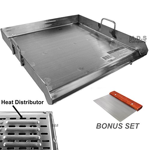 Griddle Stainless Steel Flat Top With reinforced brackets under griddle-Heat Distributor Heavy Duty Comal Plancha 20