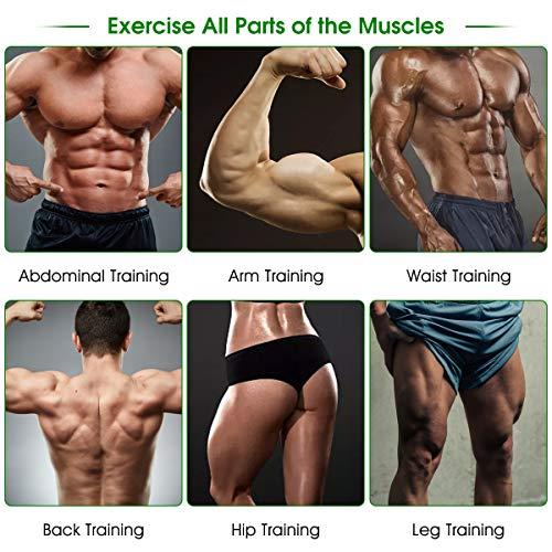 Muscle Toner EMS Ab Trainer Rechargeble Abdominal Toning Belt 10 modes 20 Intensities for Abdomen/Arm/Leg Training Men Women Abs Workout Machine 4