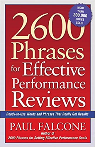 2600 Phrases for Effective Performance Reviews: Ready-to-Use Words ...