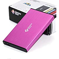 MasterStor 1 Year Warranty 1TB Portable Hard Drive USB 3.0 SATA Super-Fast 2.5 inch Hard Drive for Laptop External Hard Disk Drive Pink