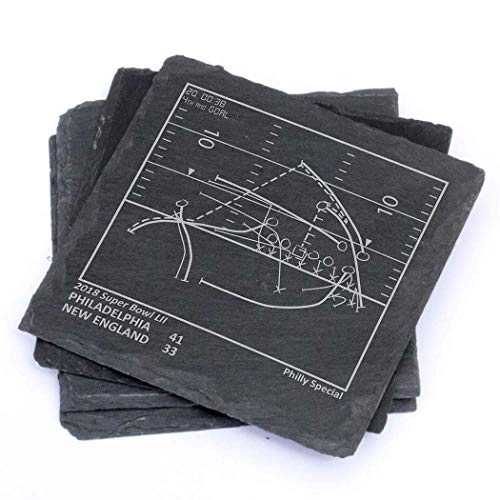 Greatest Eagles Plays - Slate Coasters (Set of 4)