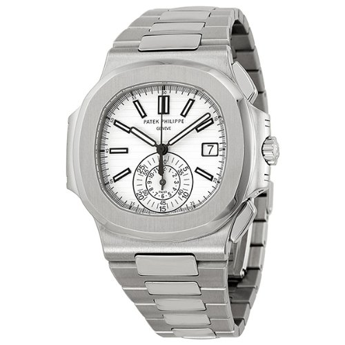 PATEK PHILIPPE Nautilus plata Dial Acero inoxidable Acero Mens Reloj 5980 - 1 A-019: Patek Philippe: Amazon.es: Relojes