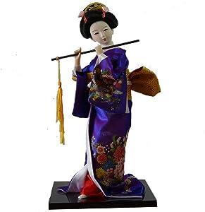 Heartrace Japanese Ethnic Geisha Kabuki Geiko Kimono furnishings Belle Collectible Artware Girl Statue Christmas/Birthday/Business Gift Home/Desk Decor