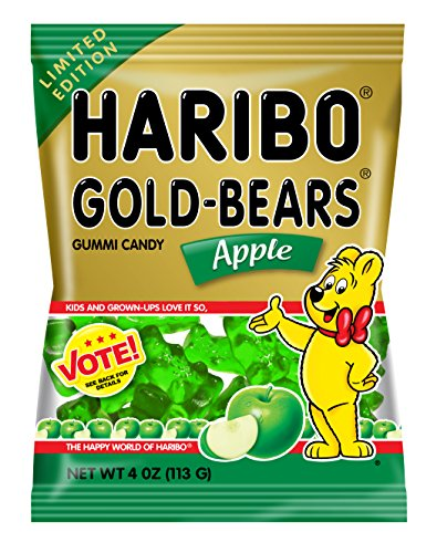 Haribo of America Gold Bears Bags, Apple, 12 Count