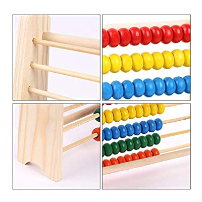 Les yeu 123 Learning Abacus Toy,Abacus Classic Wooden Toy,Math Numbers Counting Beads Learning Abacus Toy Best for 3, 4, and 5 Year Olds: Toys & Games