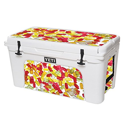 MightySkins Skin For YETI 75 qt Cooler – Gummy Bears | Protective, Durable, and Unique Vinyl Decal wrap cover | Easy To Apply, Remove, and Change Styles | Made in ()