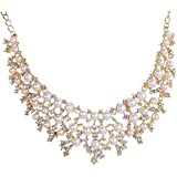 Superior Trade New Women Luxury Crystal Rhinestone Statement Jewelry Imitation Pearl Drop Weave Costume Queen Jewelry