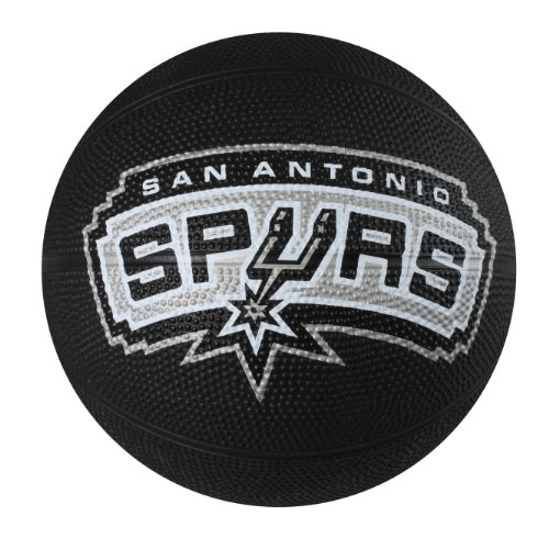 fan products of Spalding NBA San Antonio Spurs Mini Rubber Basketball