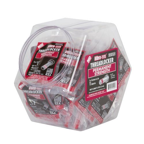 Vibra-TITE 131 Permanent Strength Anaerobic Threadlocker Fish Bowl, 2ml Bullet Tubes, Red, 100 pieces by Vibra-TITE
