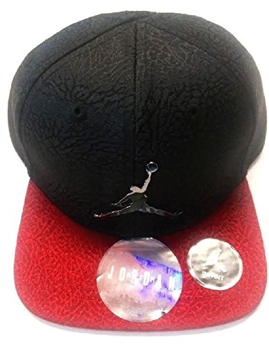 Air Jordan Jumpman Elephant Print Black/Red Adjustable Boy's Cap 12/24M