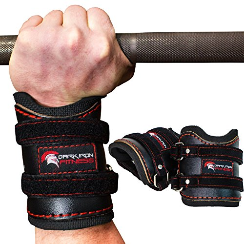 [Weightlifting gym Wrist Wraps support for pull ups bench press deadlift exercise pain mens girls elastic neoprene 8 12 18 24 36 inch xs xl brace usa with thumb loop ipf uspa unisex 2 pair red black] (Suede Cap Black Belt)