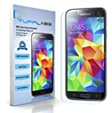 TUFF LABS - Samsung Galaxy S5 Screen Protectors - High Definition (HD) Clear 3 Pack in Retail Packaging Anti-Oil & Anti-Scratch Bubble-Free Japanese PET Film - TUFF LABS is a California Company