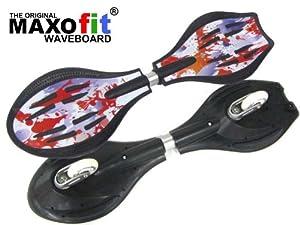 MAXOfit Waveboard Pro Close Mini Fire, bis 129 Kg mit Leuchtrollen und...
