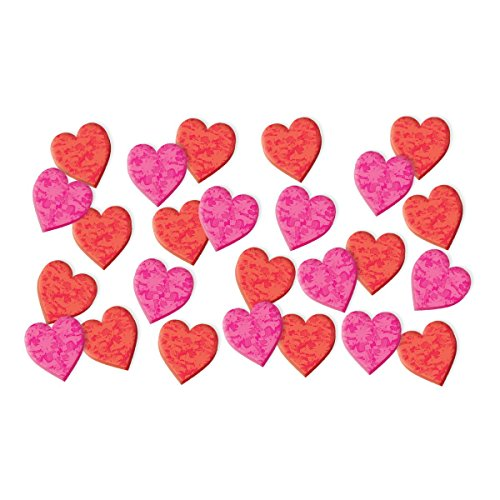matic Craft Hearts Party Foam Decoration (130 Pack), Red/Pink, Assorted Size. (Party Prismatic Centerpiece)