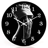 CCYYJJ Wall Clock Sport Mute Studio Creation Of Watches And Clocks House Decoration Practice Wall Clock Meditation Art Mute Creative Watches And Clocks Select (Color # 2, Size: 30Cm)