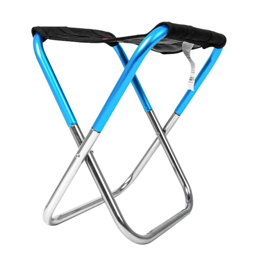 US-PopTrading Camping Foldable Chair Stool Mini Portable Folding Stool Lightweight Waterproof Oxford Outdoor Fold Up Chairs Hiking Fishing Travelling Picnic Beach Quickly Fold Chair Stool