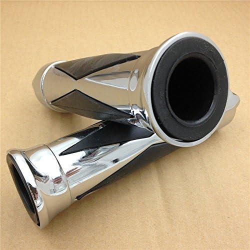 Htt moto Chrome Skull Diamon impugnatura manopole 2,5/cm 25/mm per Honda Shadow Magna Vtx 1300/1800/GL 1200/Goldwing 1500