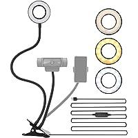 NexiGo - Soporte de iluminación para cámara web con soporte para cámara web y soporte para teléfono, para cámaras web…