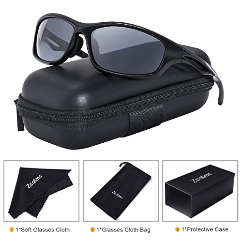 Zealme Polarized Sports Lightweight Durable Unbreakable Frame Anti Glare Baseball Cycling Fishing Golf Running Bicycle Motorcycle Hiking Sunglasses 607 - Golf Polarized Sunglasses