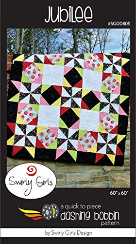 "Swirly Girls Jubilee Quilt Pattern Designs 60"" x 60"" SGDDB05"