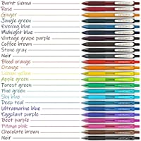 Arteza Bolígrafos de gel de colores, pack de 24 bolis surtidos, 10 ...
