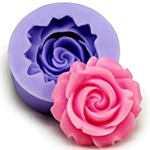 FVIEW 3D Silicone Rose Fondant Mold Cake Decorating Mould