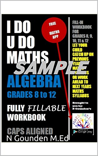 Sample: ALGEBRA Grades 8 to 12 - I DO U DO MATHS