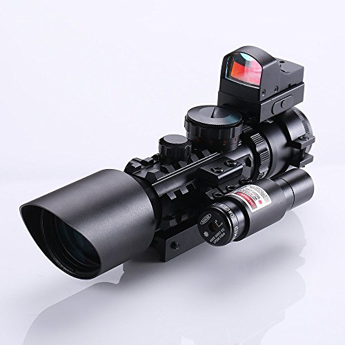 IRON JIA'S 3-10X42 Tactical Rifle Scope w/ Red - Mil 16 Airsoft Gun