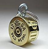 12 Gauge Federal Gold Medal Duck Stamp Shotgun Engraved Personalized High Brass Genuine Bullet Pet Dog Tag Pet I.D.Tag