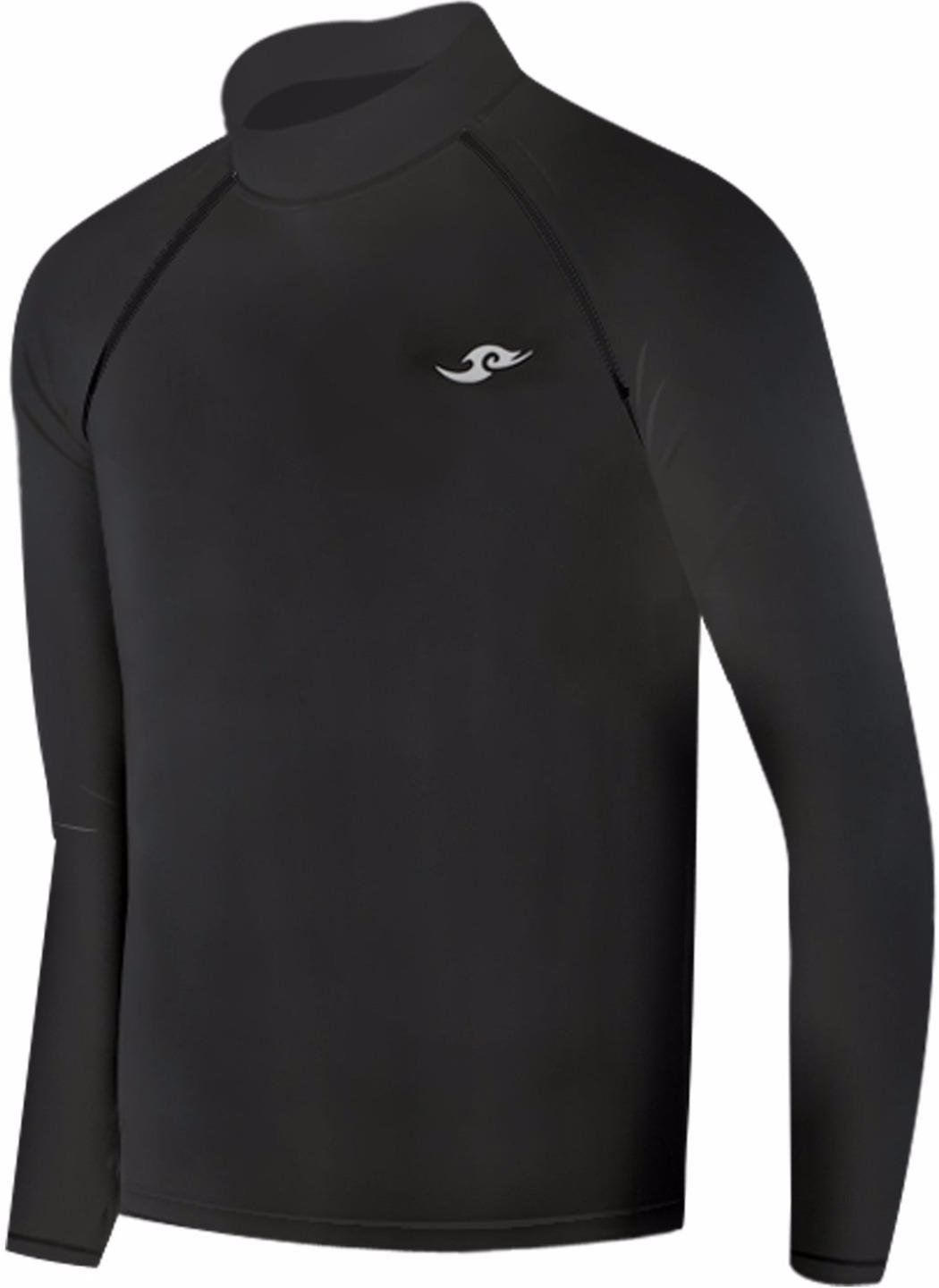 New Boys & Girls Youth 114 Black Winter Compression Skin Tight Shirt (S (3)) JustOneStyle