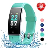 LETSCOM Fitness Tracker with Heart Rate Monitor, Color Screen Activity Tracker Watch, IP68 Waterproof Pedometer Watch Sleep Monitor Step Counter for Women Men and Kids
