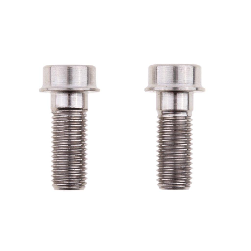 Sharplace 2x Vis Boulons d'Étrier Frein de Moto Résistant à Corrosion en Alliage de Titane - M10 x 1.25 x 25 mm