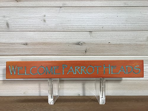 Welcome Parrotheads Wall Plaque Laser Engraved Personalized Custom Beach Sign 162 by SignsByAllSeasons