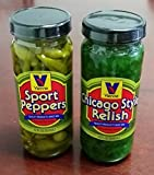 Vienna Chicago Style Relish (12 oz) and Vienna Sport Pepper (12 oz) Bundle