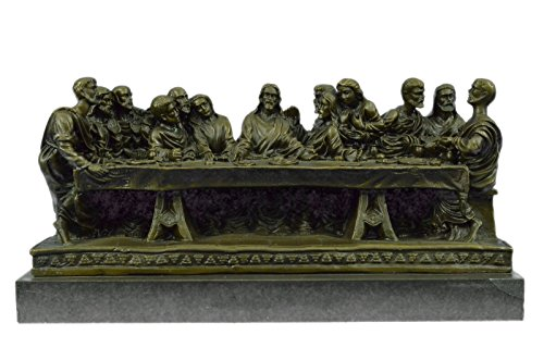 Handmade European Bronze Sculpture Hot Cast Original Extra Large Christian Faith Last Supper Jesus Religious Bronze Statue -EUYRD-930-Decor Collecti by Bronzioni