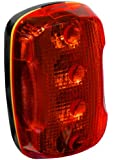 """FoxFire 6001654 Personal Safety Weather Resistant Light, 4 LEDs, 2-115/128"""" Length x 1-51/64"""" Width x 1-5/32"""" Thick, Red"""