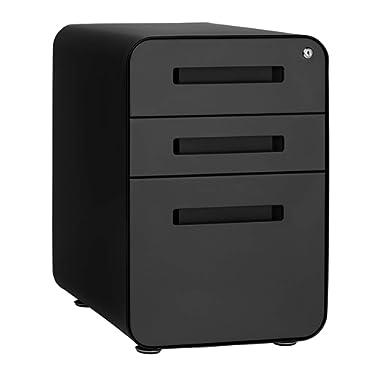 Stockpile 3-Drawer File Cabinet (Black/Grey)