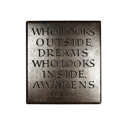 Wild Goose Studios Plaques Inspirational Quote Wall Hanging Bronze Plaque Made in Ireland