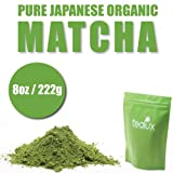 Matcha Green Tea Powder - Pure Japanese - ORGANIC - Superior Antioxidant Content - All Day Energy - Improved Health - Green Tea Lattes - Smoothies - Matcha Baking (222g / 8oz)