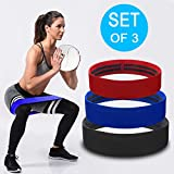 Cheap JFeng Booty Resistance Workout Hip Bands Set of 3 | Fabric Exercise band for Squats, Butt, Thigh and Glutes Workout | Anti-Slip and Anti-Roll Loop | Soft Cloth, Thick, Wide Resistance Booty Bands
