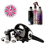 Fascination Spray Tan Machine System Kit with Norvell Airbrush Tanning Solution Sunless Bundle and Disposable Spa Feet