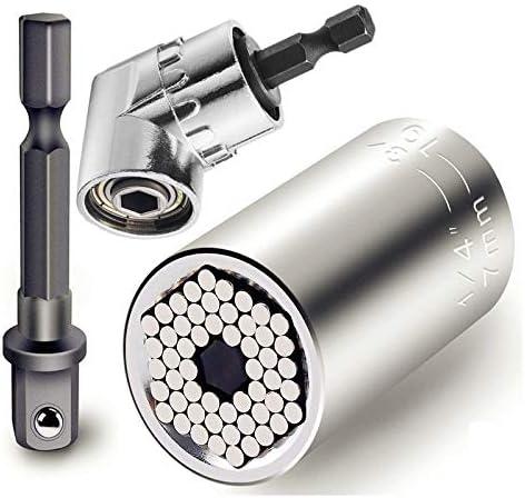 """100 mm Longueur 1//4/"""" Shank 8 mm Hex Socket Magnétique Écrou Tournevis Adaptateur Gray"""