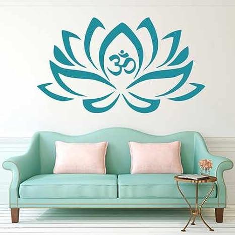 Lotus Wall Decal Vinyl Sticker Decals  Decor Design Om Sign Lotus Flower Yoga Wall  Decal Home Decor meditation,mandala,Namaste yoga decor