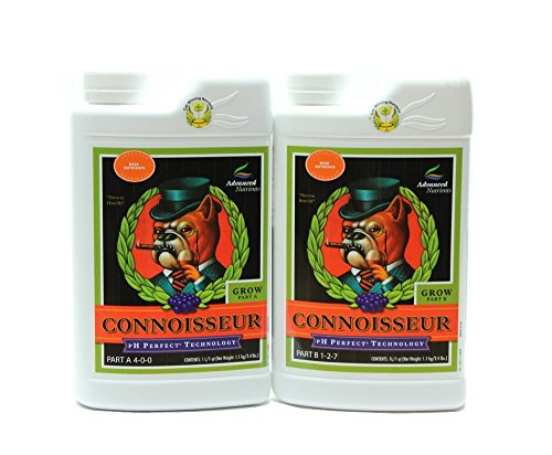 Advanced Nutrients Connoisseur Part - Advanced Nutrients 1680-14AB pH Perfect Connoisseur Grow Part A+B Soil Amendments, 1 L Fertilizer, 1 Liter