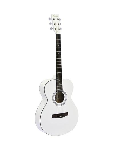 Guitarra Western LUKE con funda para guitarras, blanca - Guitarra country / Guitarra para principiantes