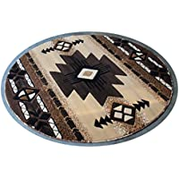 Southwest Native American Indian Berber Carpet Area Rug (7 Feet X 7 Feet Round)