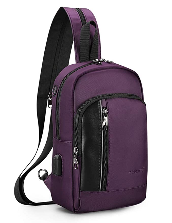 Sling Backpack Crossbody Pack Bag One Strap Large Anti-Theft Pocket Padded Water Resistant Chest Bag
